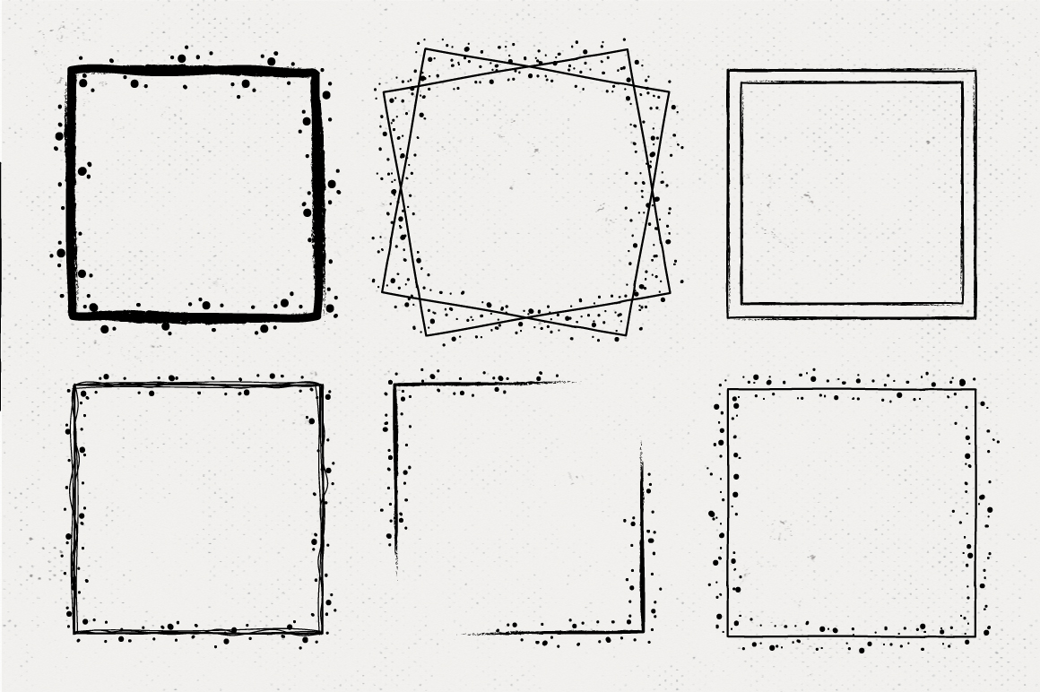 36 Hand Drawn Square Shapes - logo elements example image 2