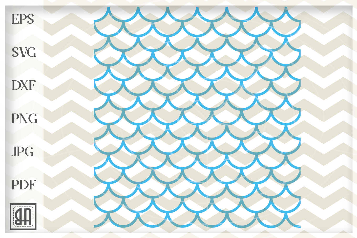 Mermaid seamless pattern, Mermaid scale svg, Fish scale SVG example image 3