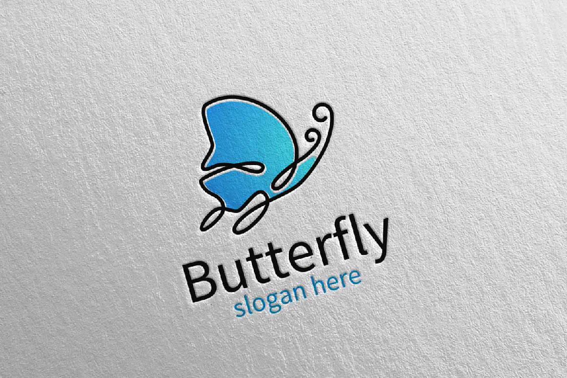 Butterfly Logo vol 17 example image 1