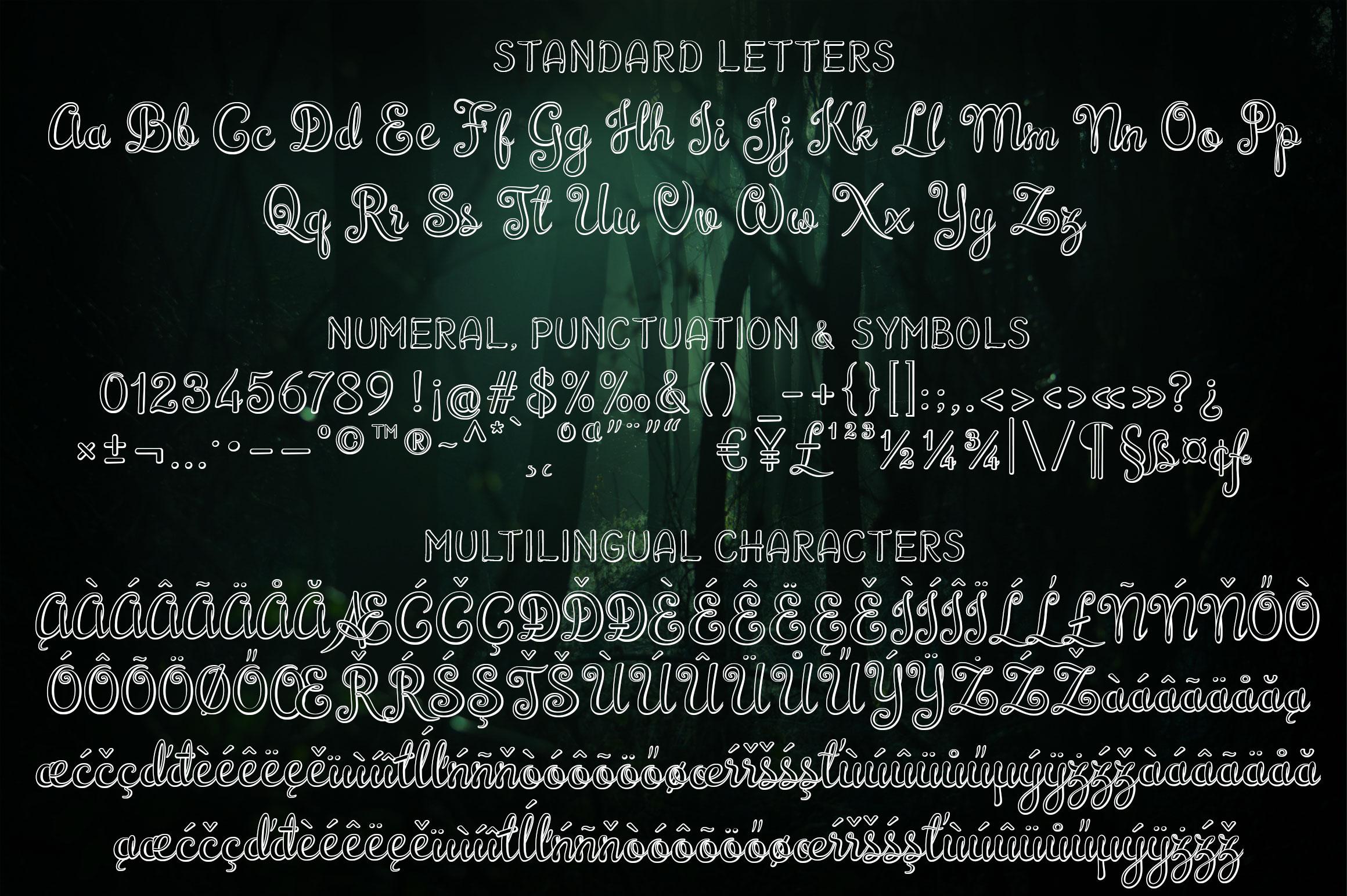 Brazilian Script LAYERED FONT example image 9