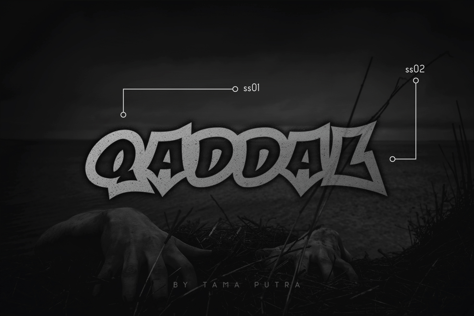 Qaddal Graffiti Font example image 1