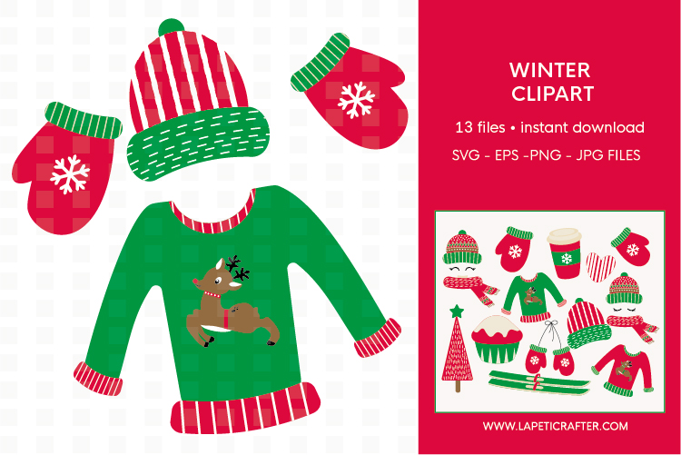 Winter Clipart, 13 instant download christmas vector example image 3