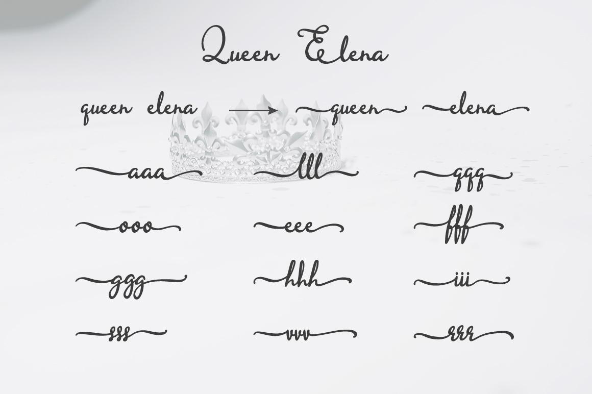 Queen Elena - Script Font example image 6