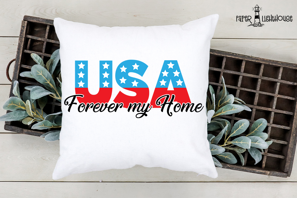 USA Forever my home - 4th of July svg, clipart, printable example image 2