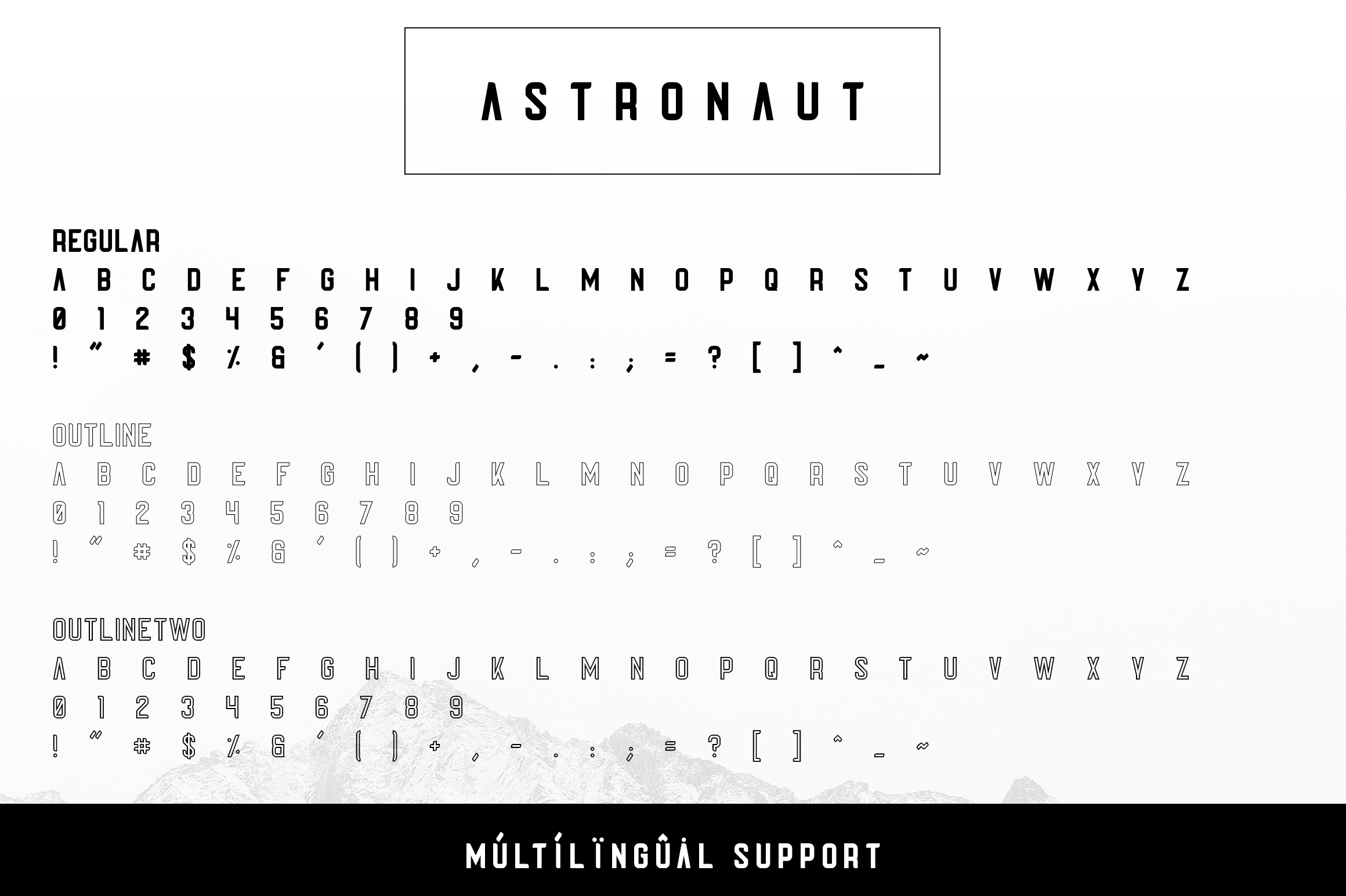 Astronaut Typeface - 6 fonts example image 7