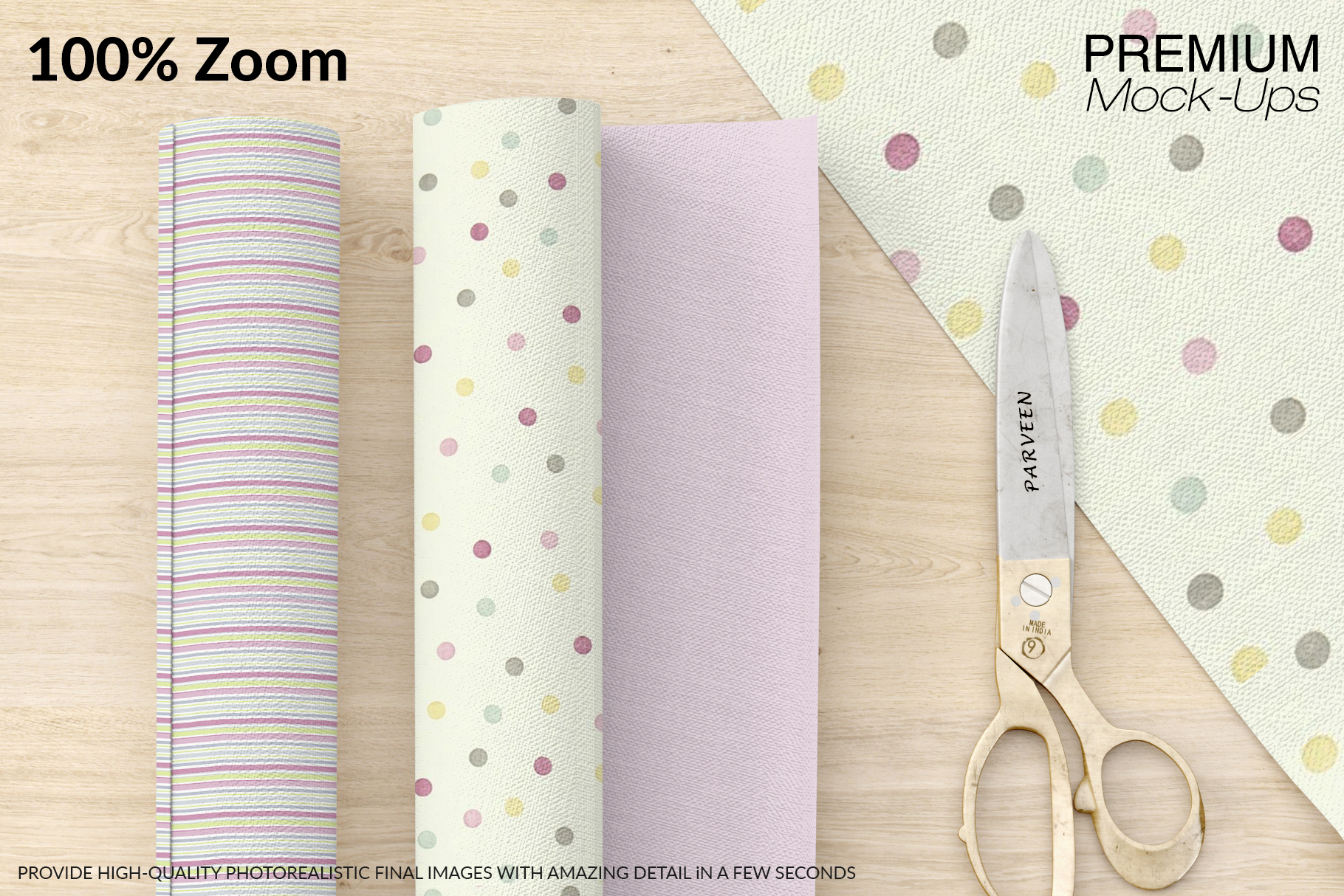 Fabric Rolls and Pillow Set example image 19