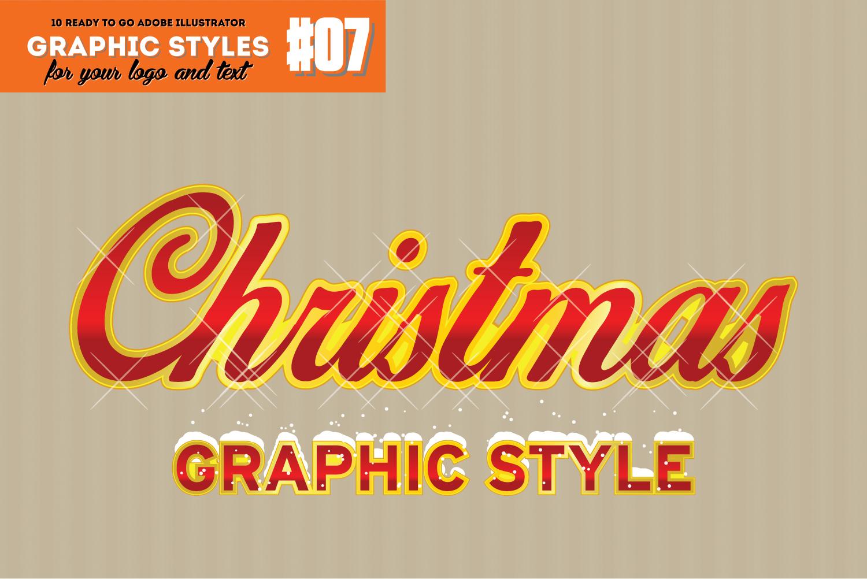 10 Retro Christmas Style for Adobe Illustrator example image 1