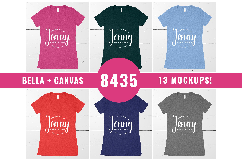 Bella Canvas 8435 Unisex Mockup Bundle, Womens T-Shirt example image 1