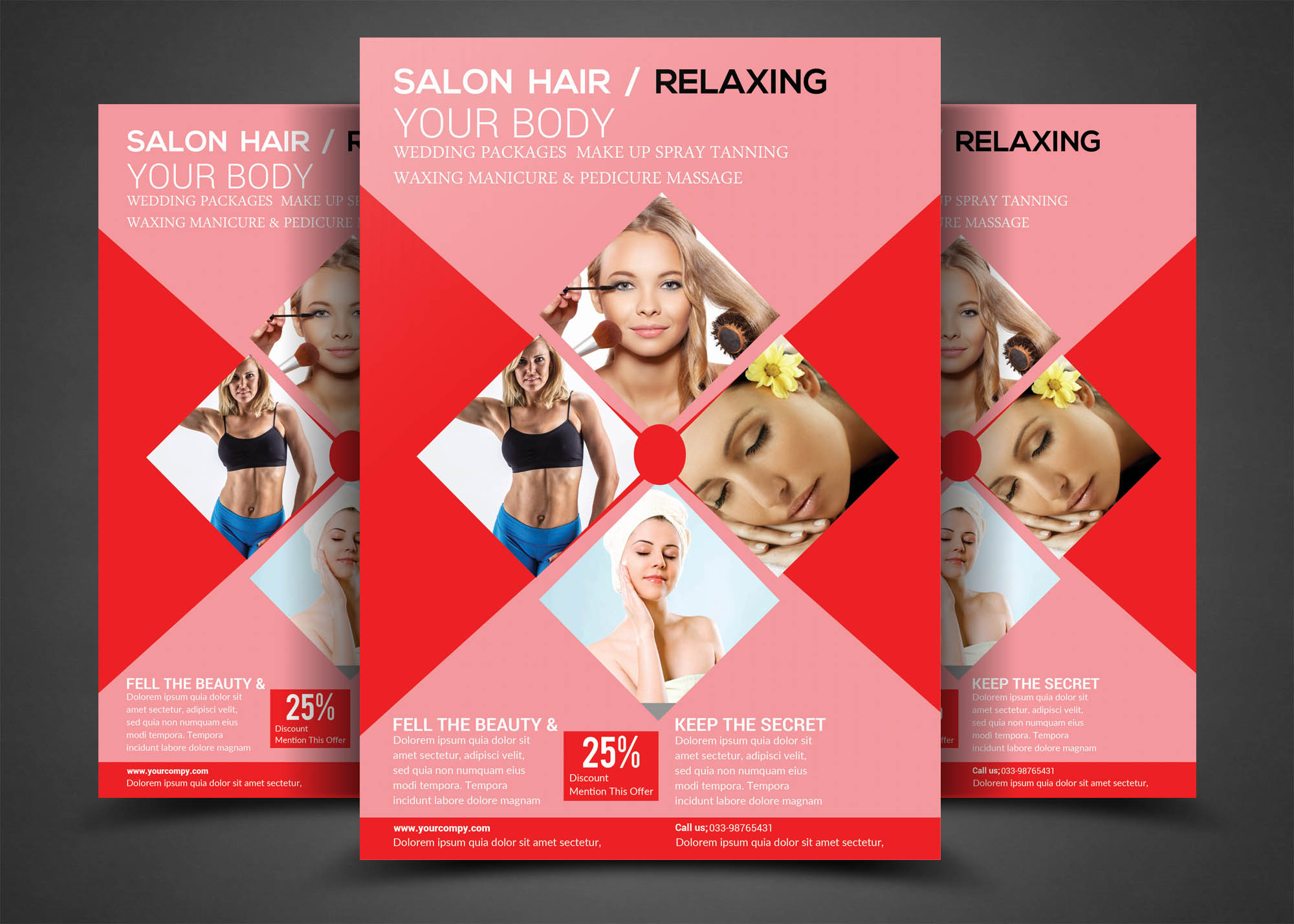 SALON  HAIR    RELAXING Flyer example image 1
