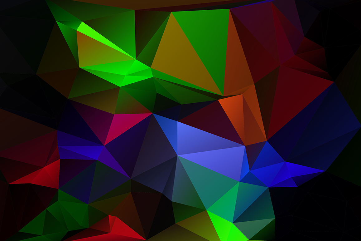 Polygon vector backgrounds set example image 7