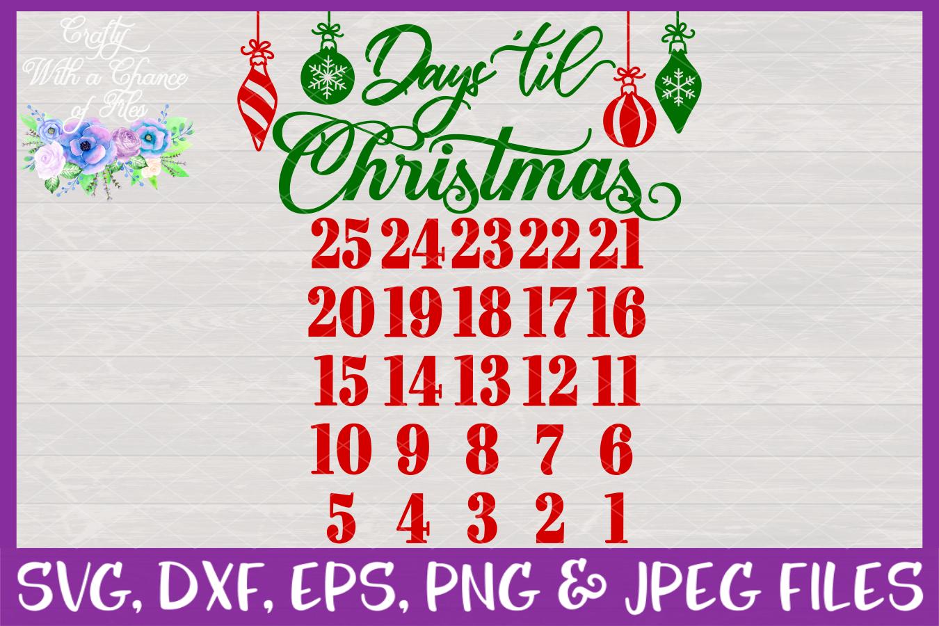 Days Until Christmas SVG - Advent Calendar Design example image 3