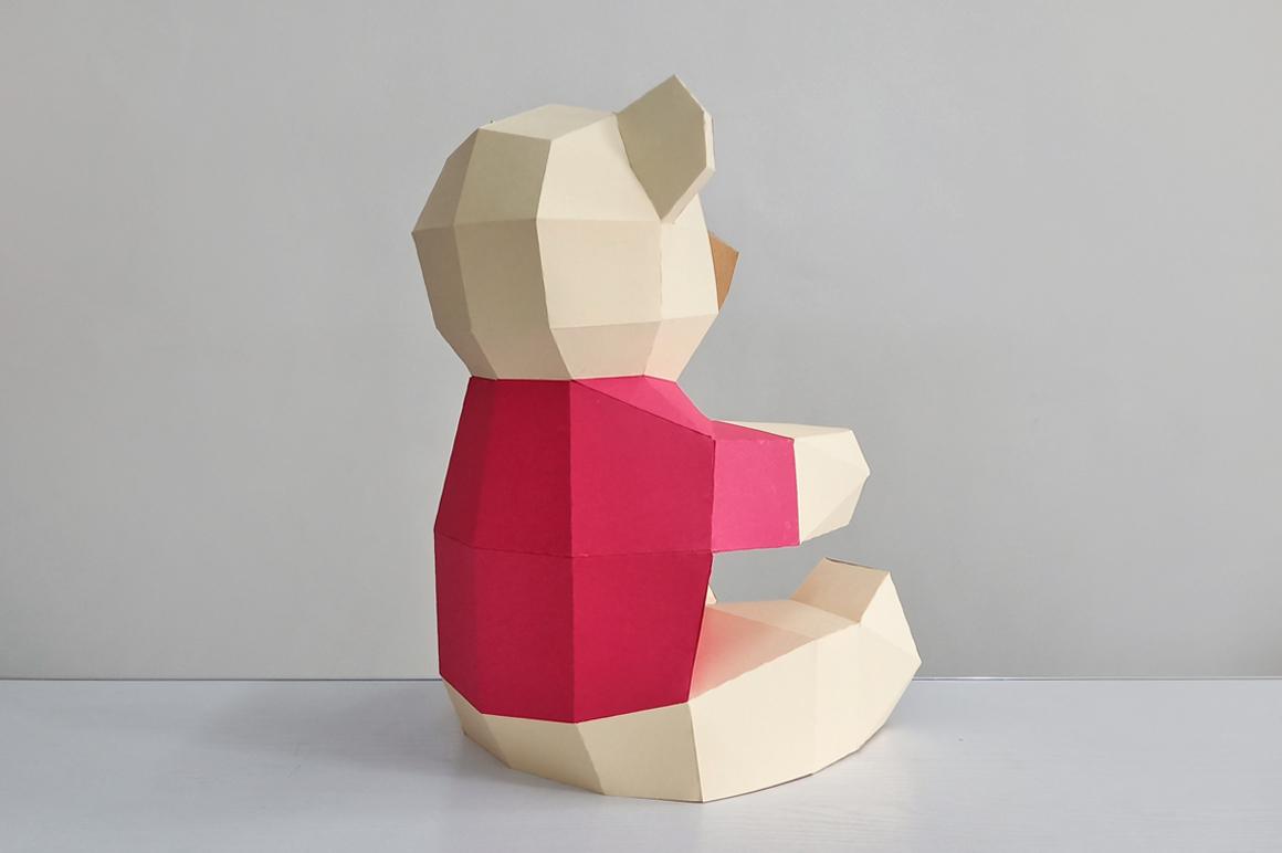 DIY Teddy bear,Papercraft Teddy bear,Paper Bear,Svg files example image 8