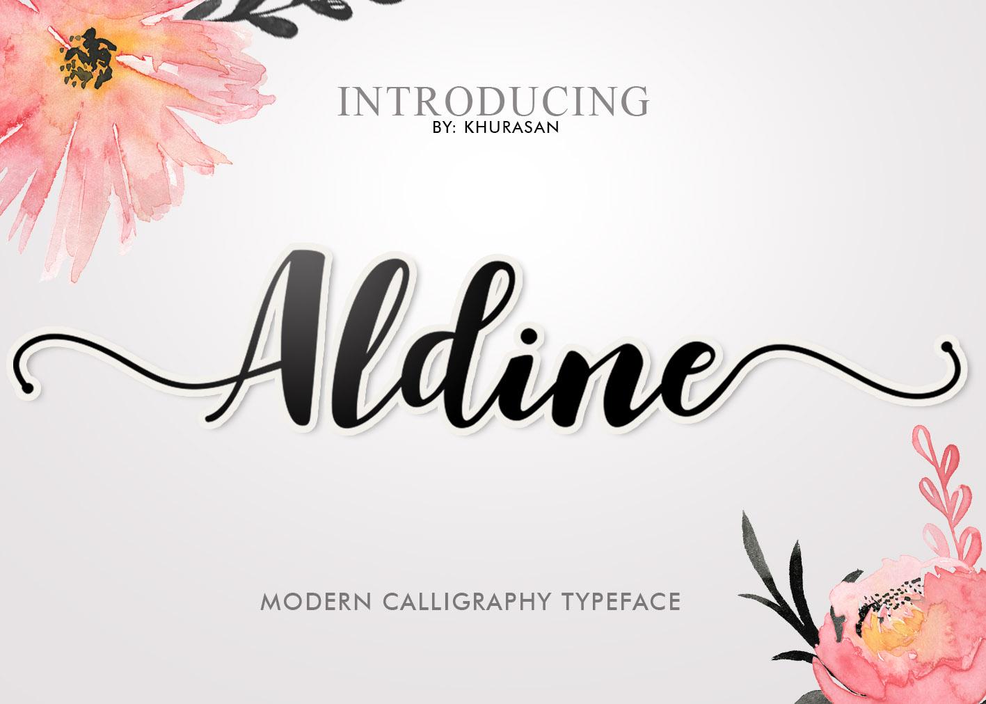 Aldine Script example image 1