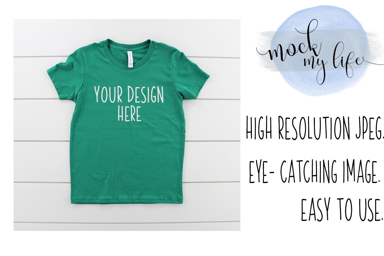 Bella Canvas Mockup / Plain Shirt Mock up / Youth Shirt example image 1