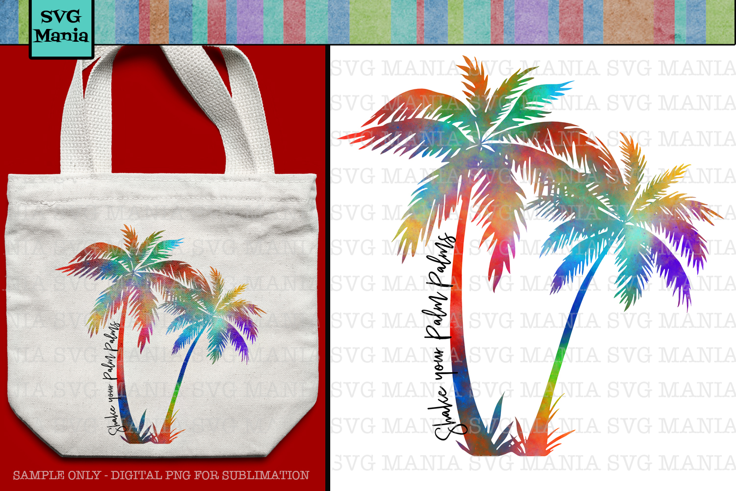 Palm Trees, Beach, Summer, Sublimation Design, png File example image 1