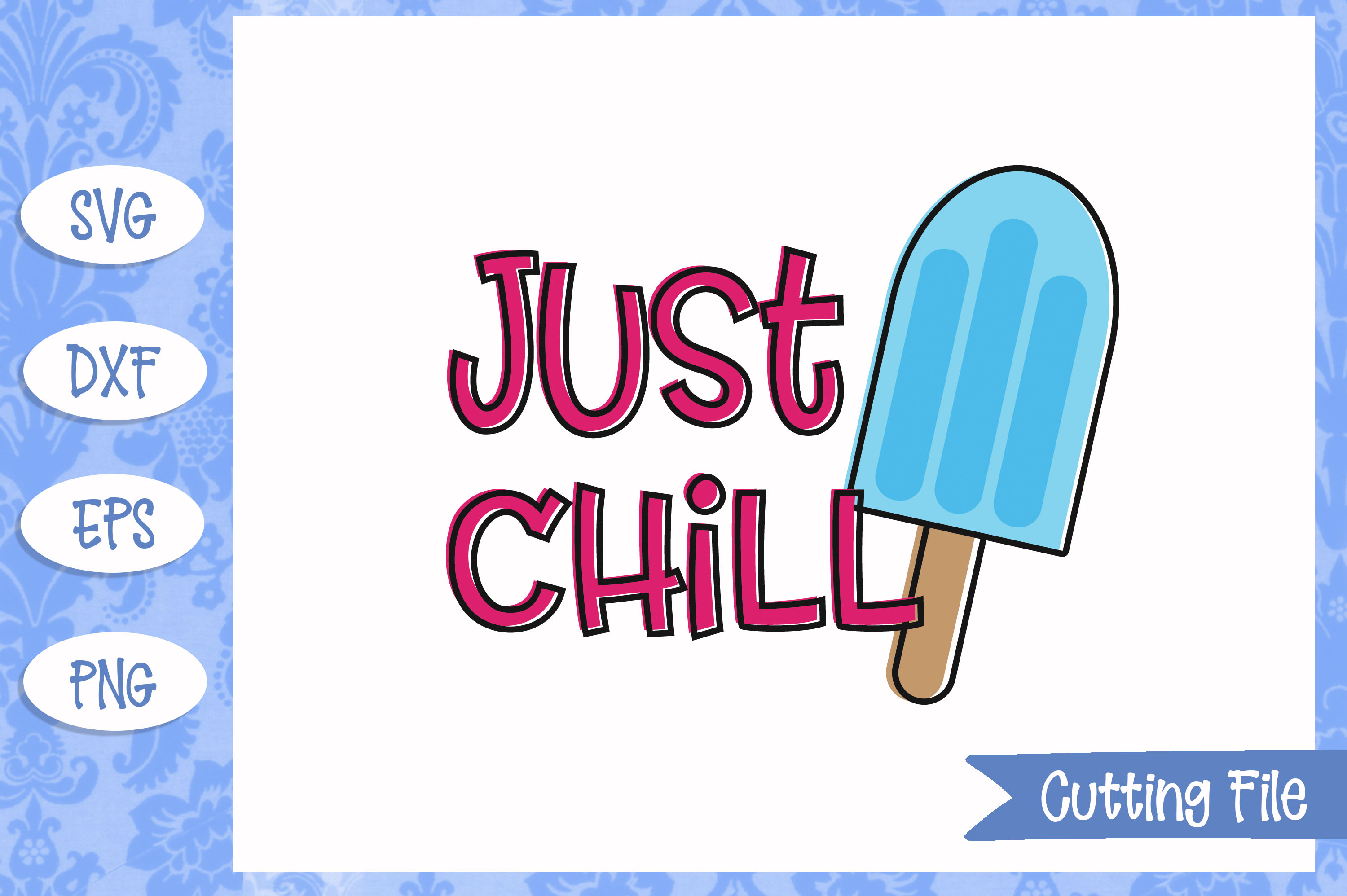 Just chill, summer SVG File example image 1