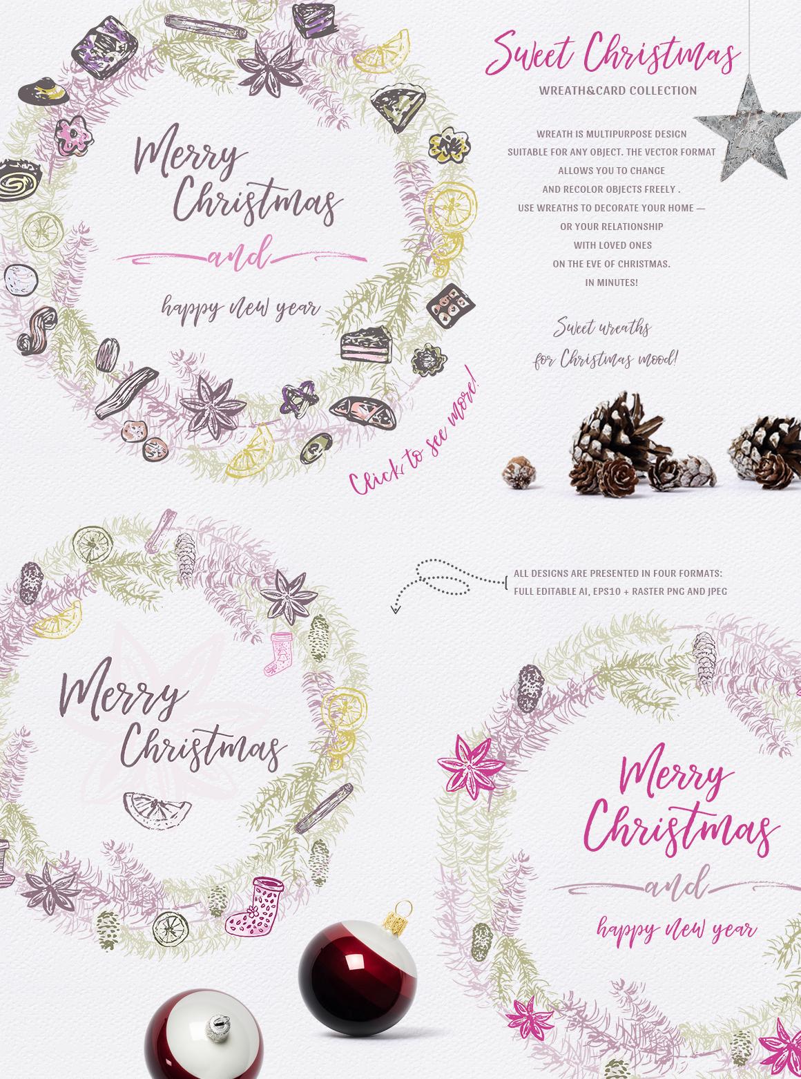 Sweet Christmas - vector example image 5