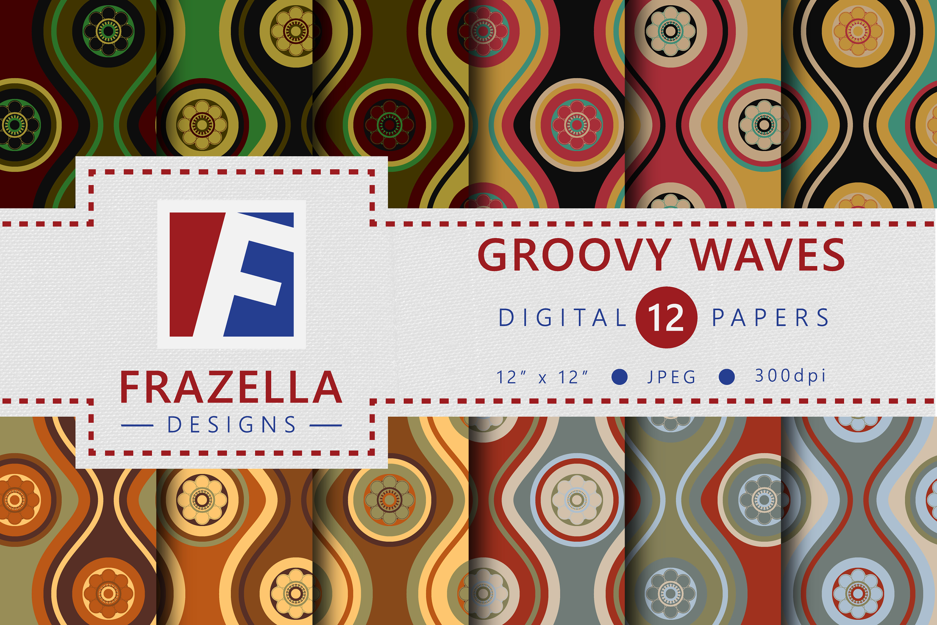 The ULTIMATE Digital Paper Collection Retro Edition Vol. 3. example image 7