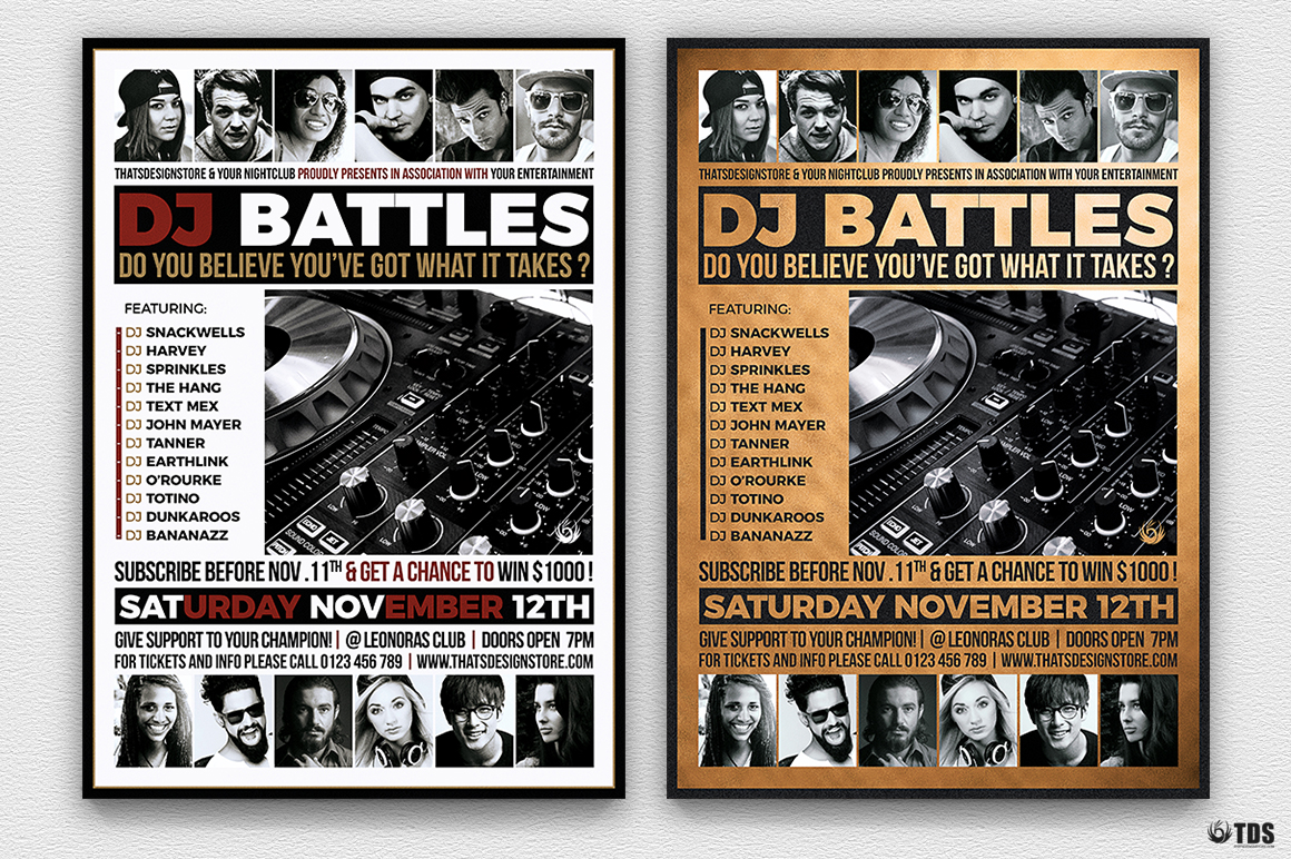 DJ Battle Flyer Template V4 example image 3