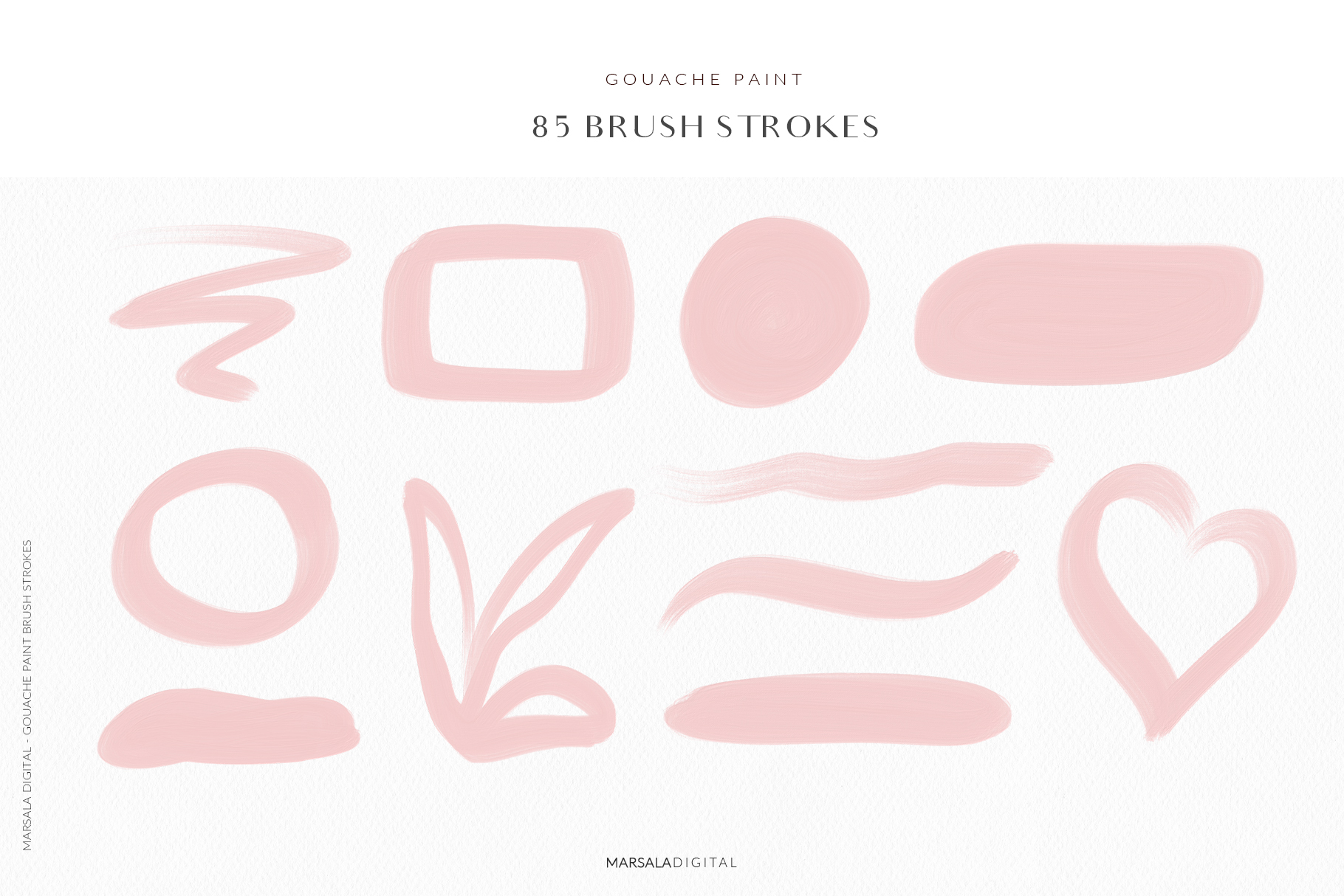Blush Pink Brush Strokes Clipart example image 6