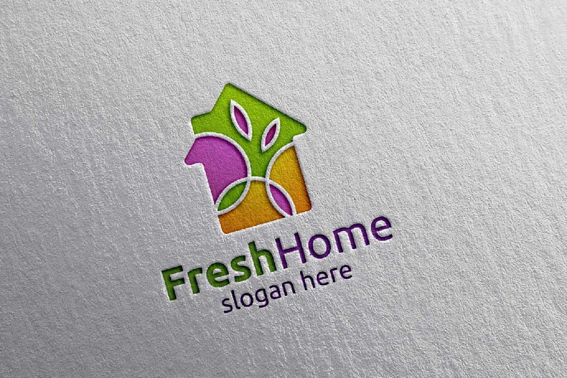 Real estate Logo, Fresh Home Logo 7 example image 6