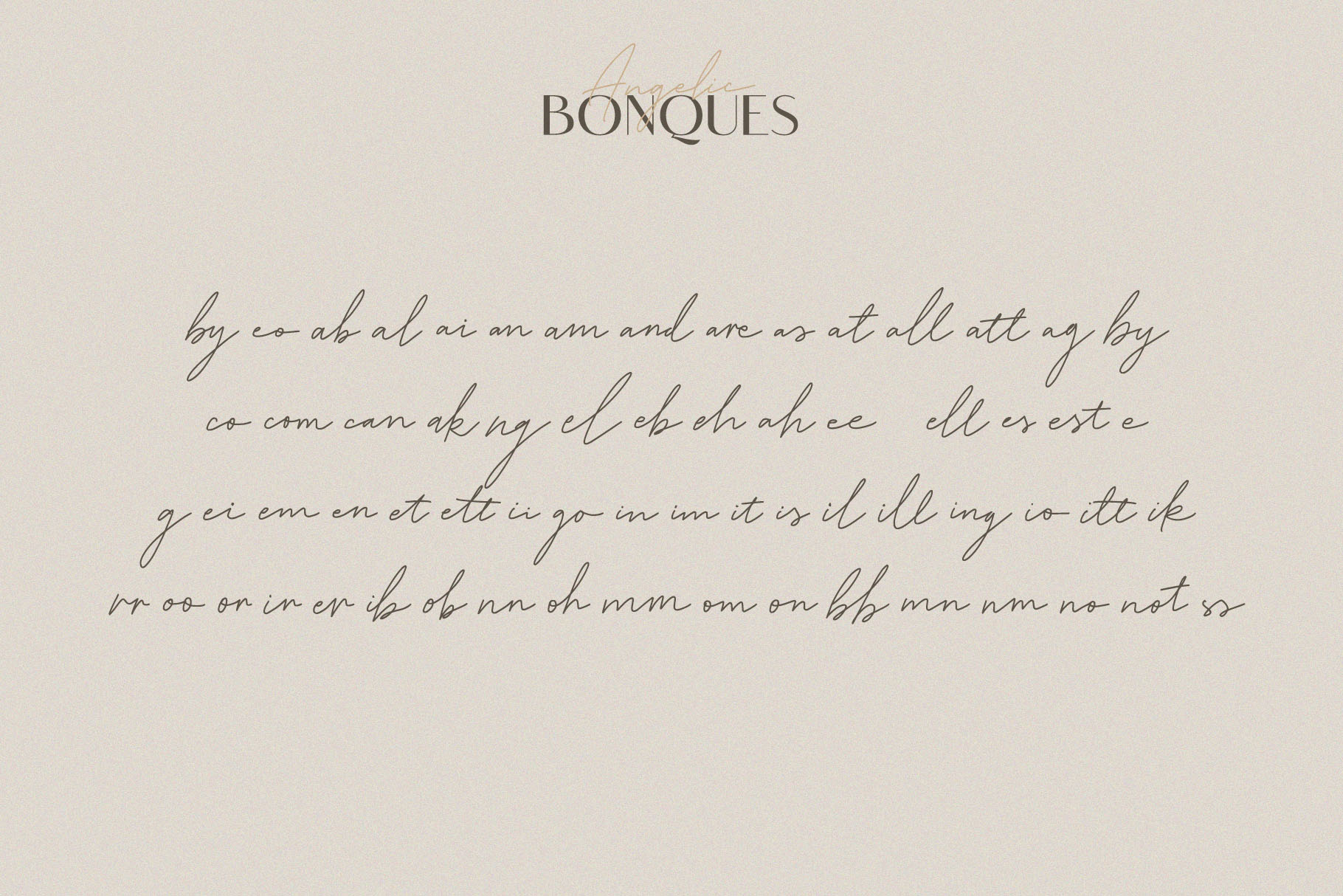 Angelic Bonques - Font Duo example image 8