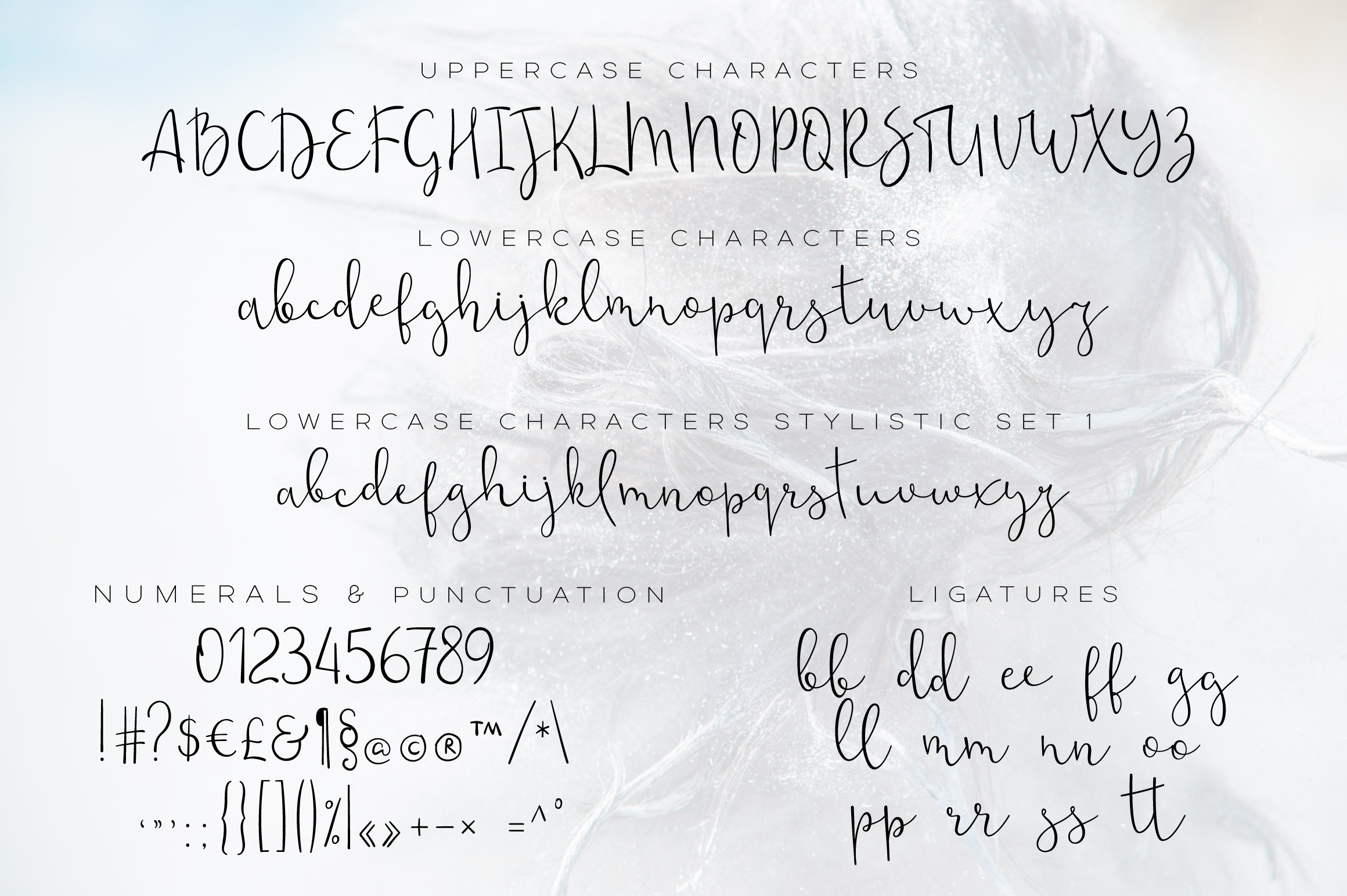 Noldor - calligraphy font with swashes example image 2