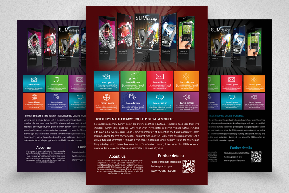 6 Products Promotion Flyers Bundles example image 5