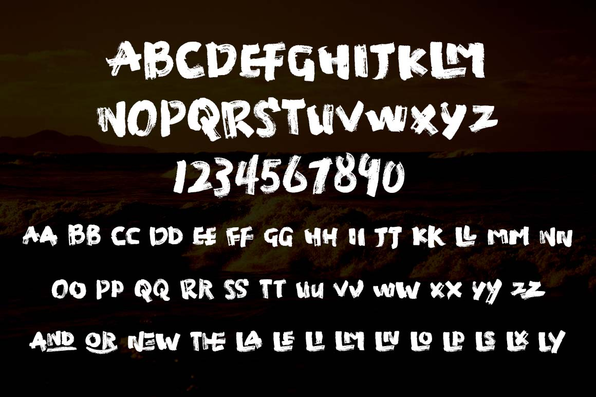 Manic Brush Script Font example image 5