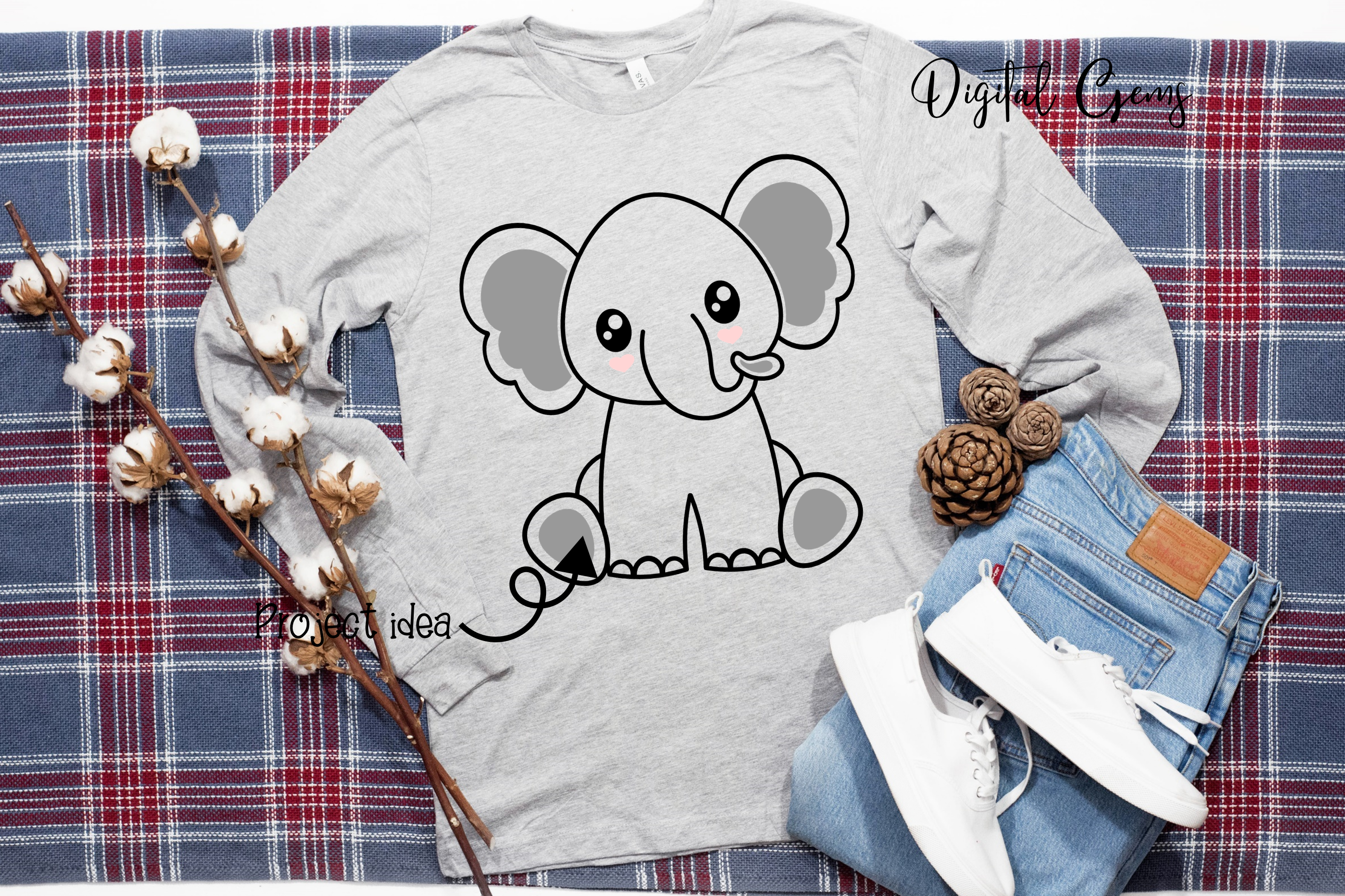 Elephant design SVG / DXF / EPS / PNG files example image 4
