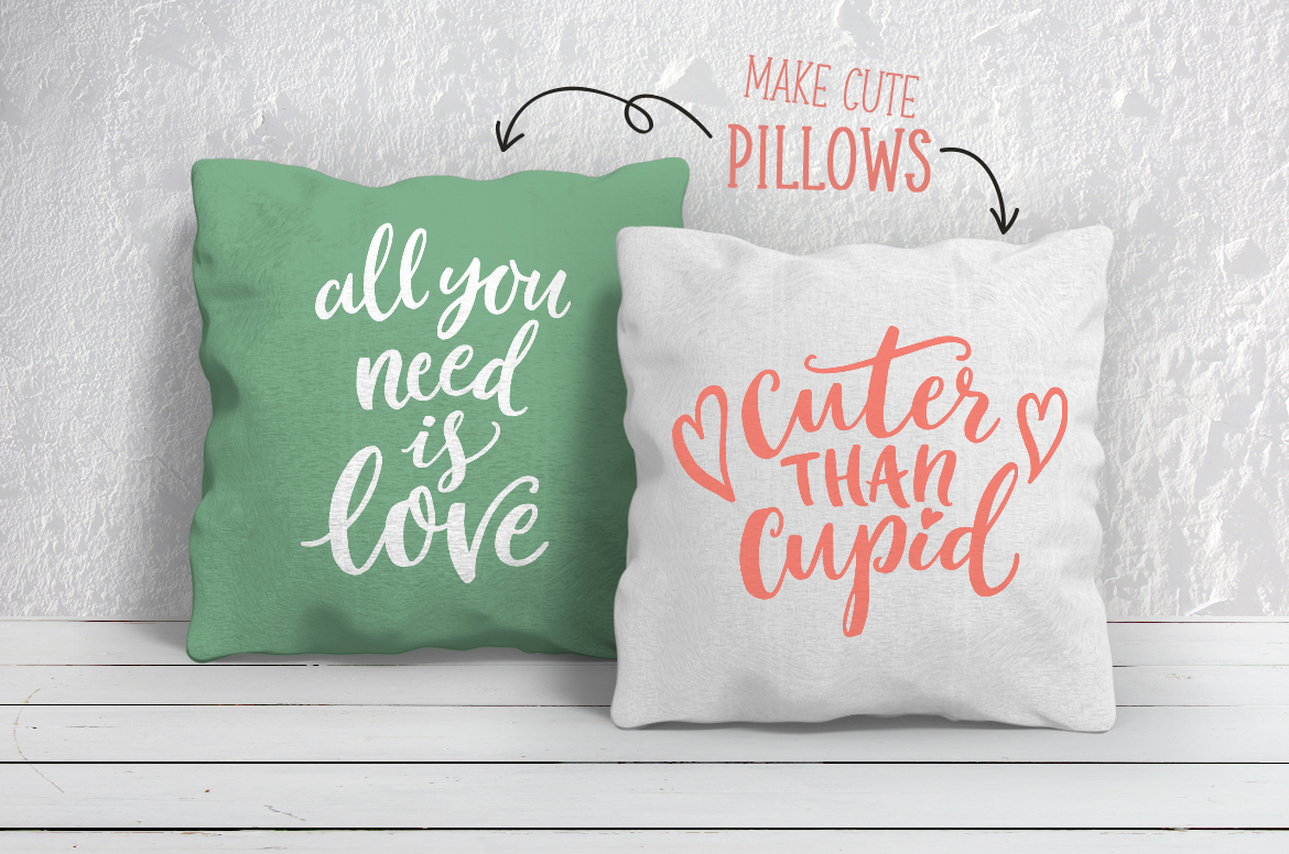 Valentines Day quotes SVG bundle example image 2