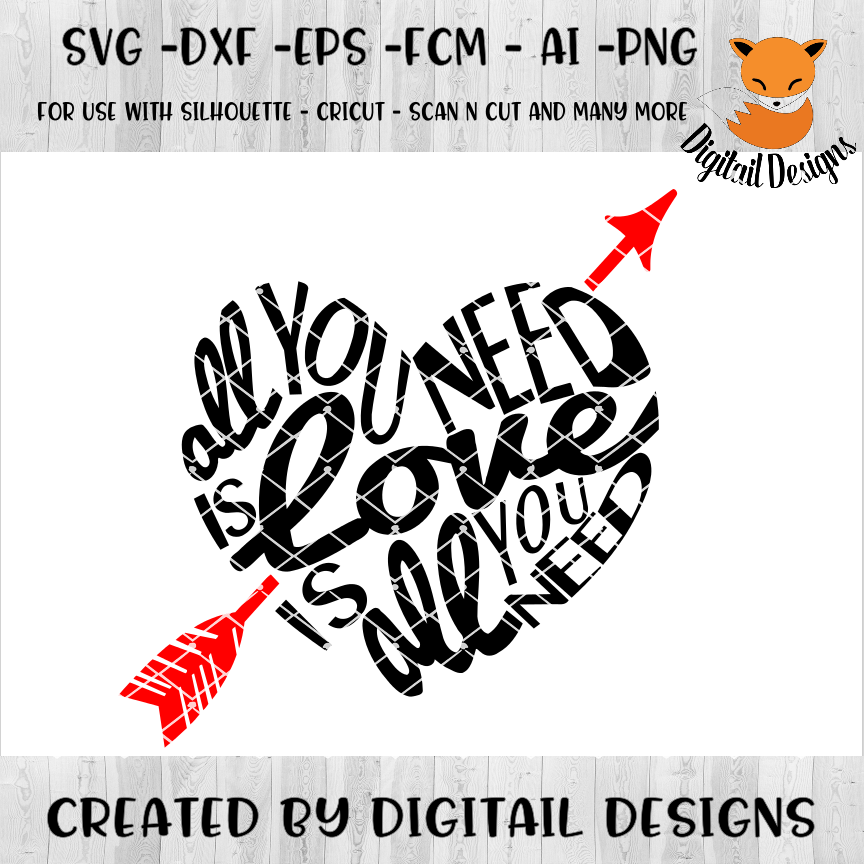 Valentine SVG - Valentine Cut File - Heart SVG - DXF - PNG - EPS - Valentine Sign SVG - Love Sign - Love SVG  example image 1