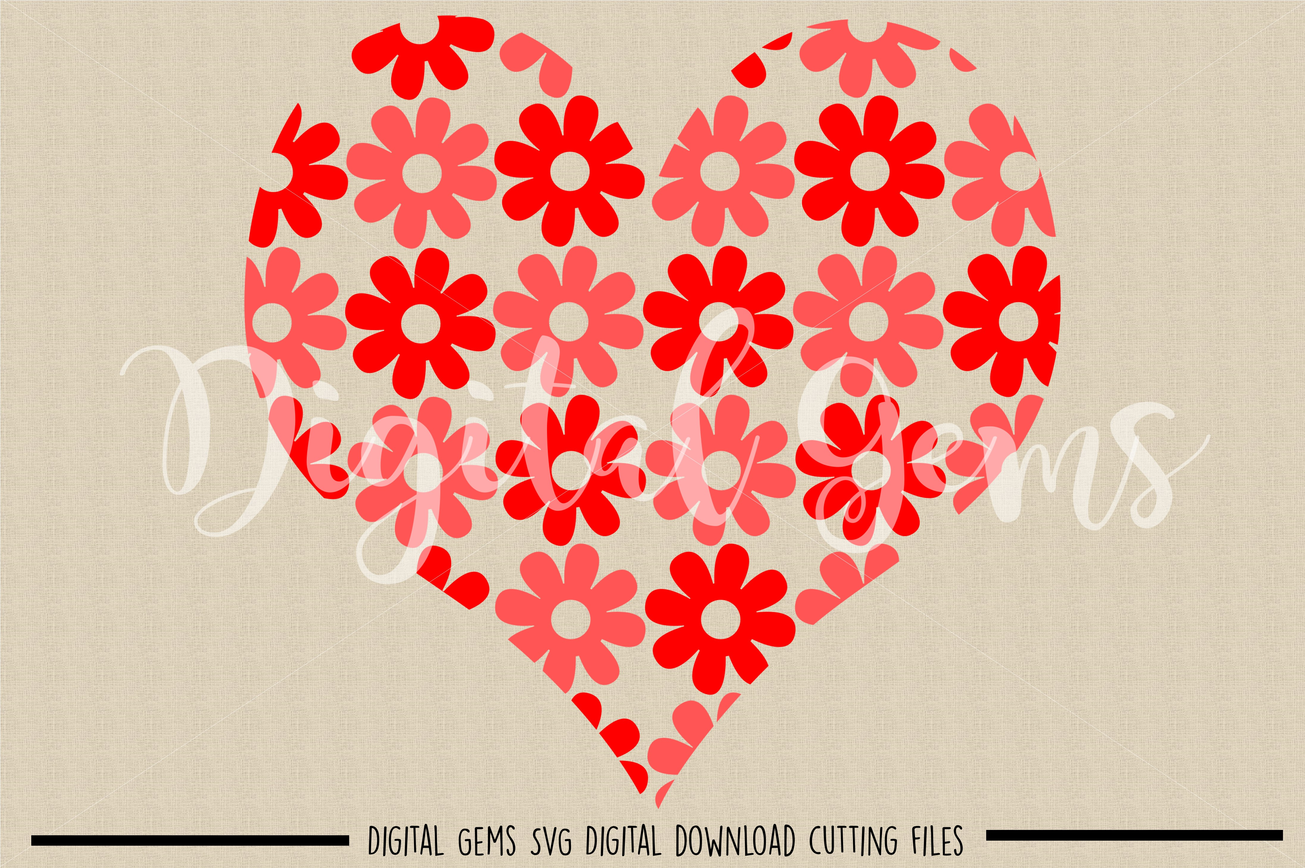 Heart SVG / DXF / EPS / PNG files example image 2