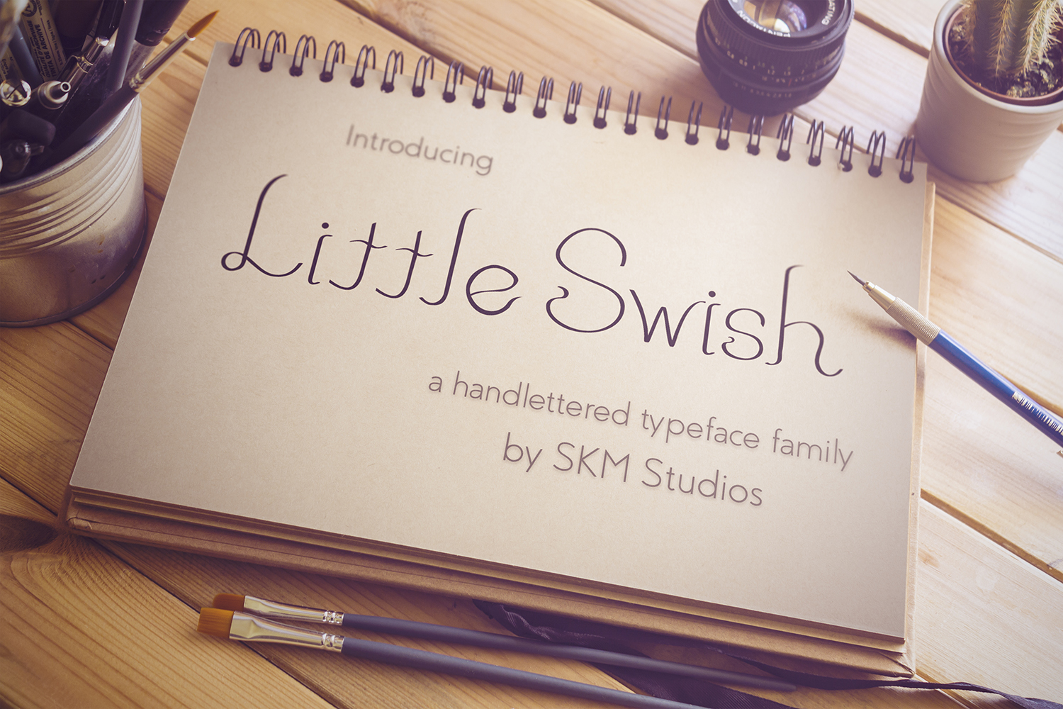 Little Swish Font Family example image 1