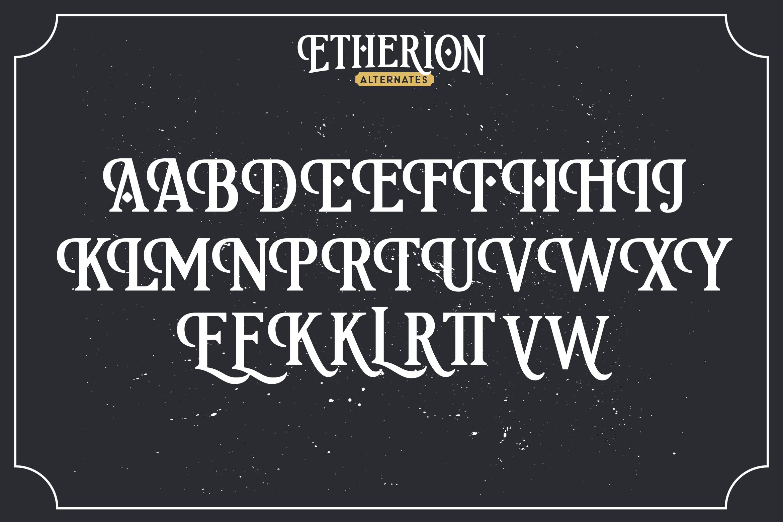 Etherion - Vintage Display font example image 9
