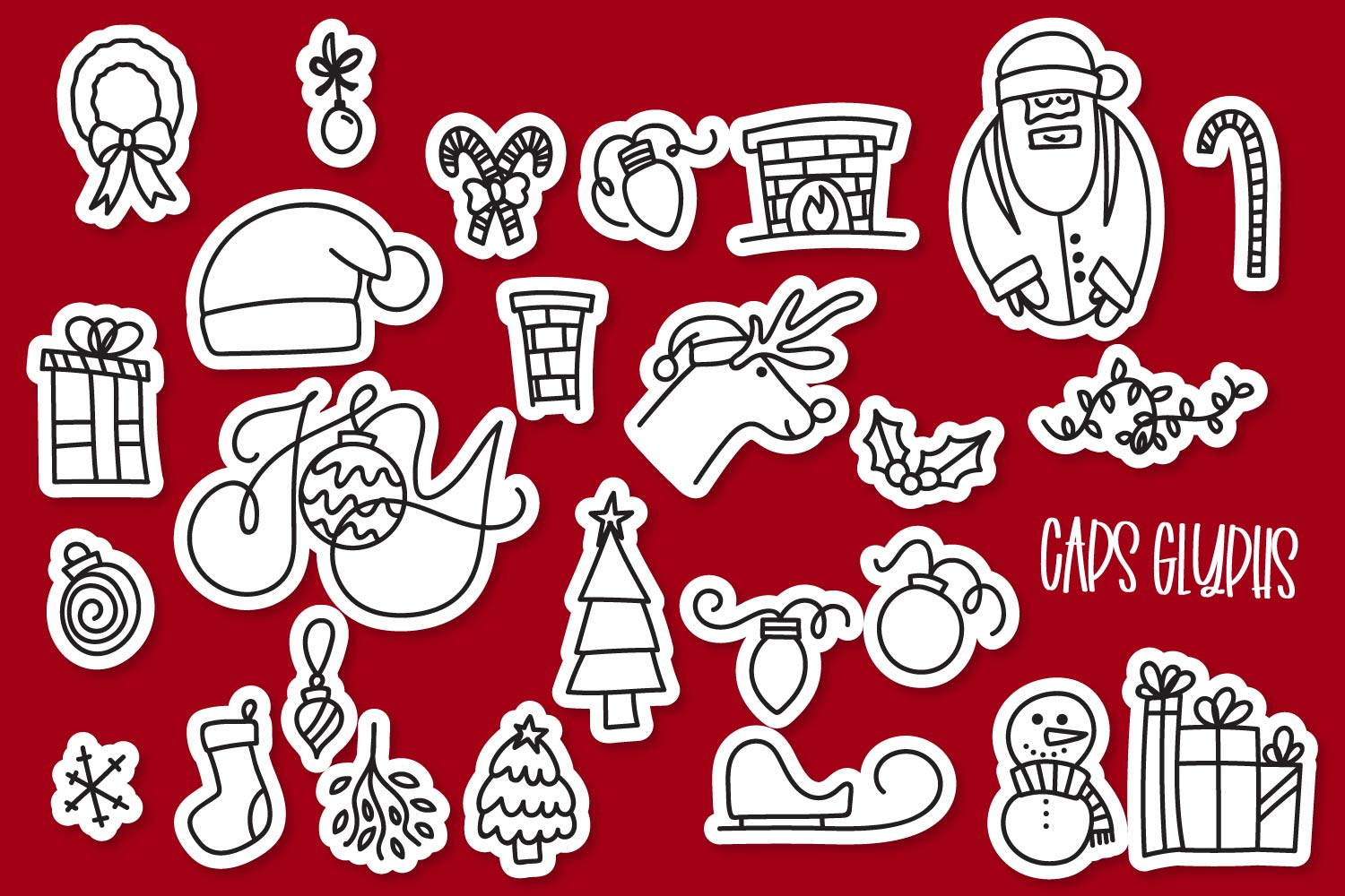 Christmas Dingbats - A font filled with Christmas symbols example image 4