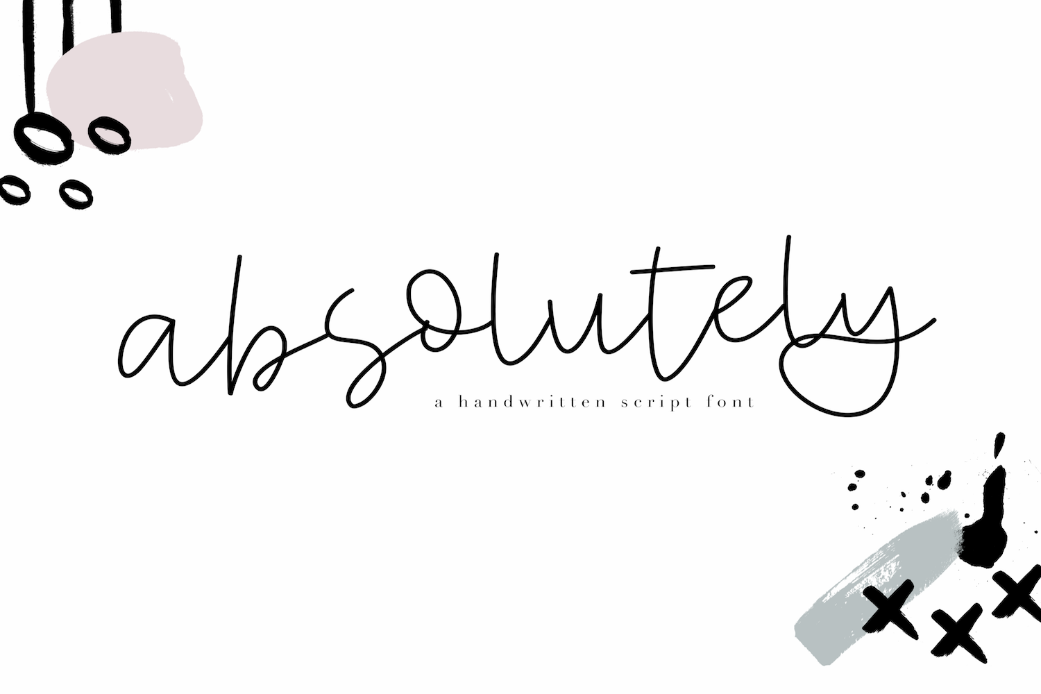 Absolutely - Handwritten Script Font example image 1