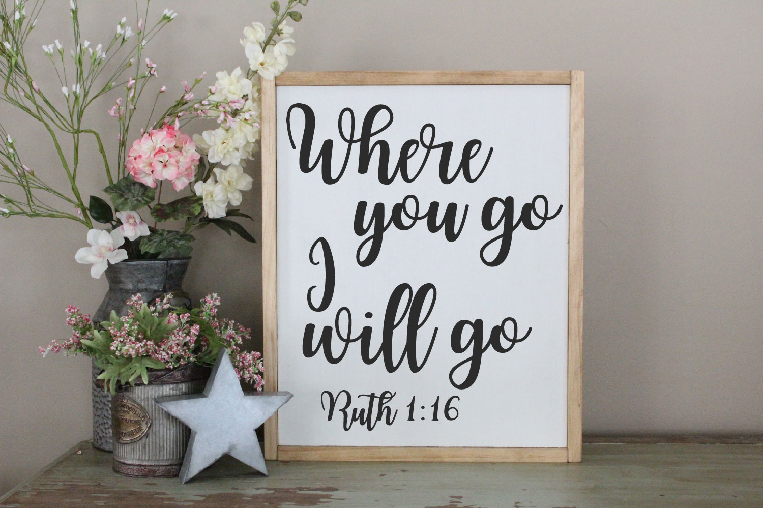 Where You Go I Will Go SVG, Ruth Scripture Sublimation example image 2