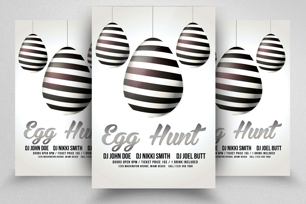 Easter Egg Hunt Flyer Template example image 1