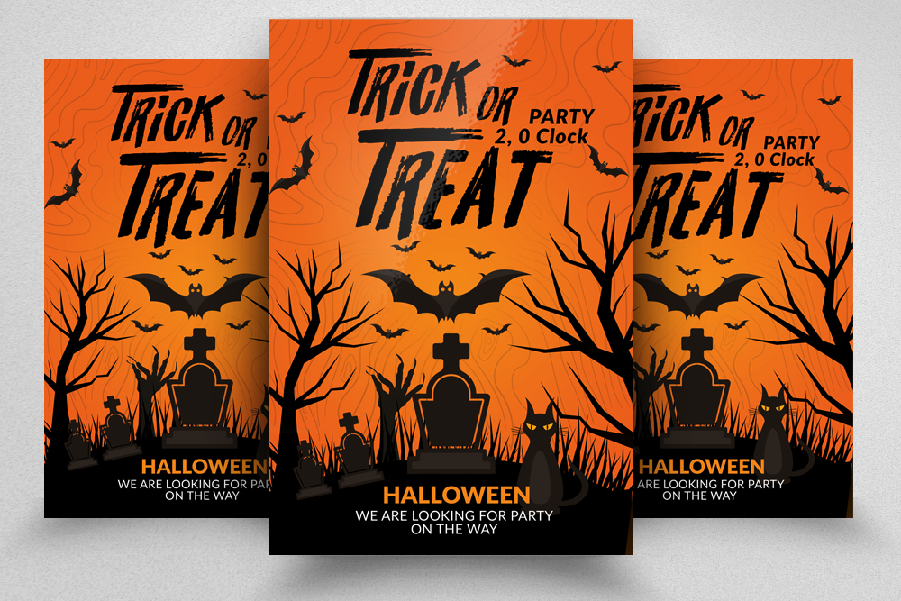 Halloween Trick or Treat Night Flyer example image 1