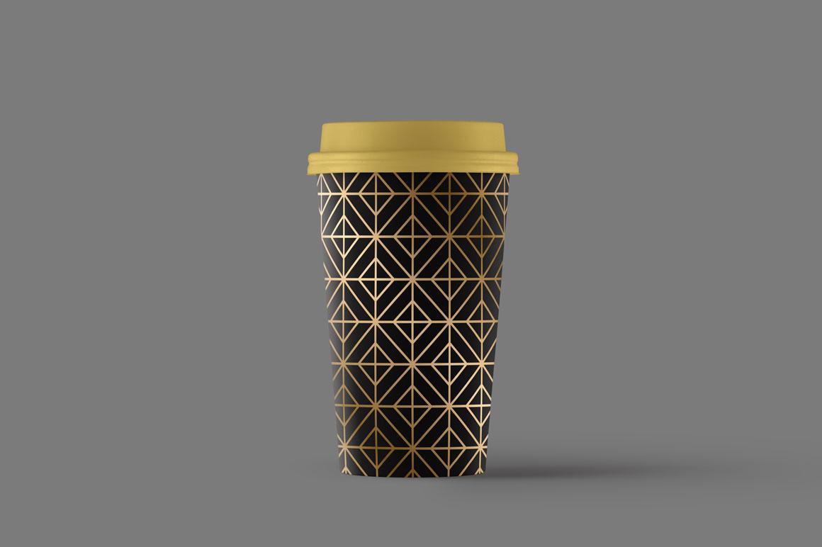 Golden seamless geometric patterns example image 3