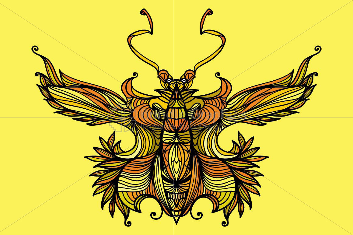 Symetrical Linear Butterfly Insect example image 1