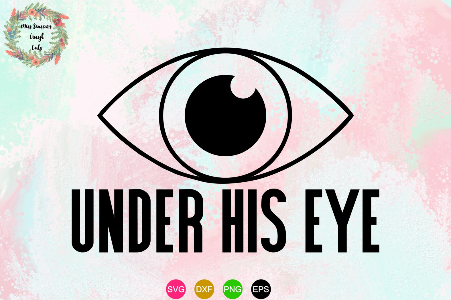 Under His Eye SVG , Dxf, Eps, PNG - Handmaids Tale example image 1