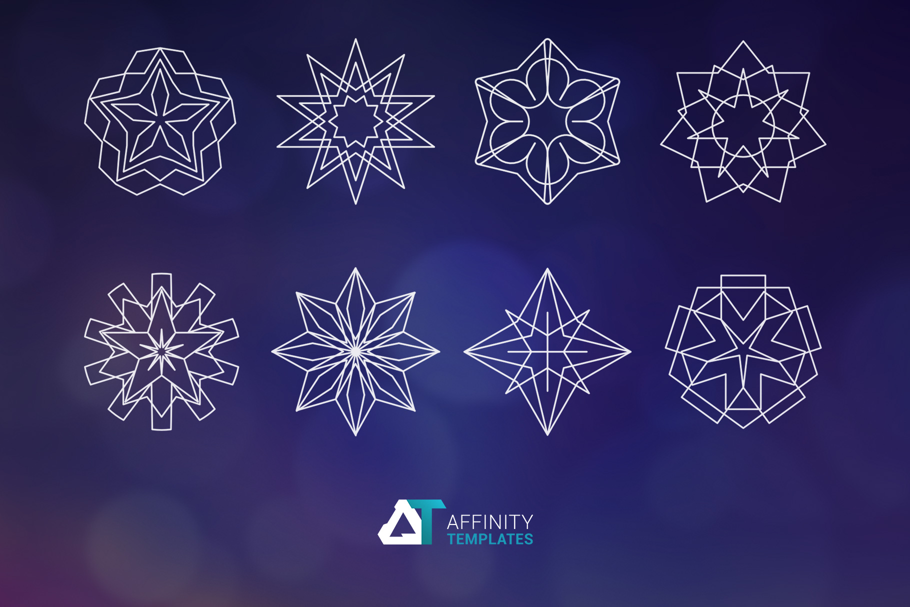 Sacred Geometry Vector Shapes Set example image 3