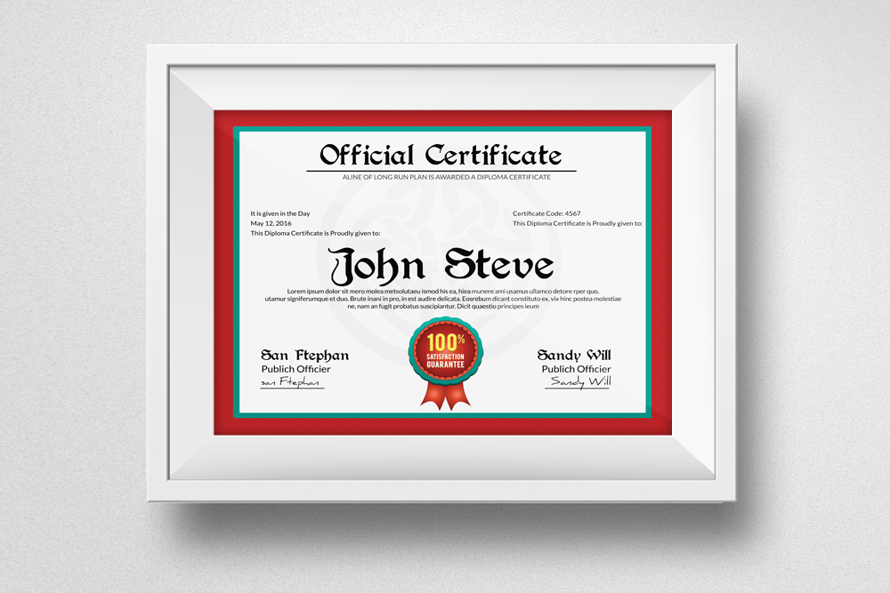 Diploma Certificate Template example image 1