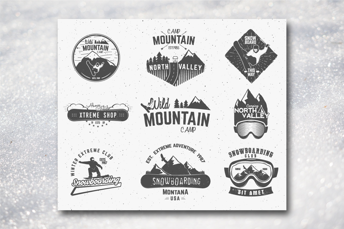 70% OFF Adventure Graphics Pack / Retro Logos Set / SVG's Collection / Icons example image 3