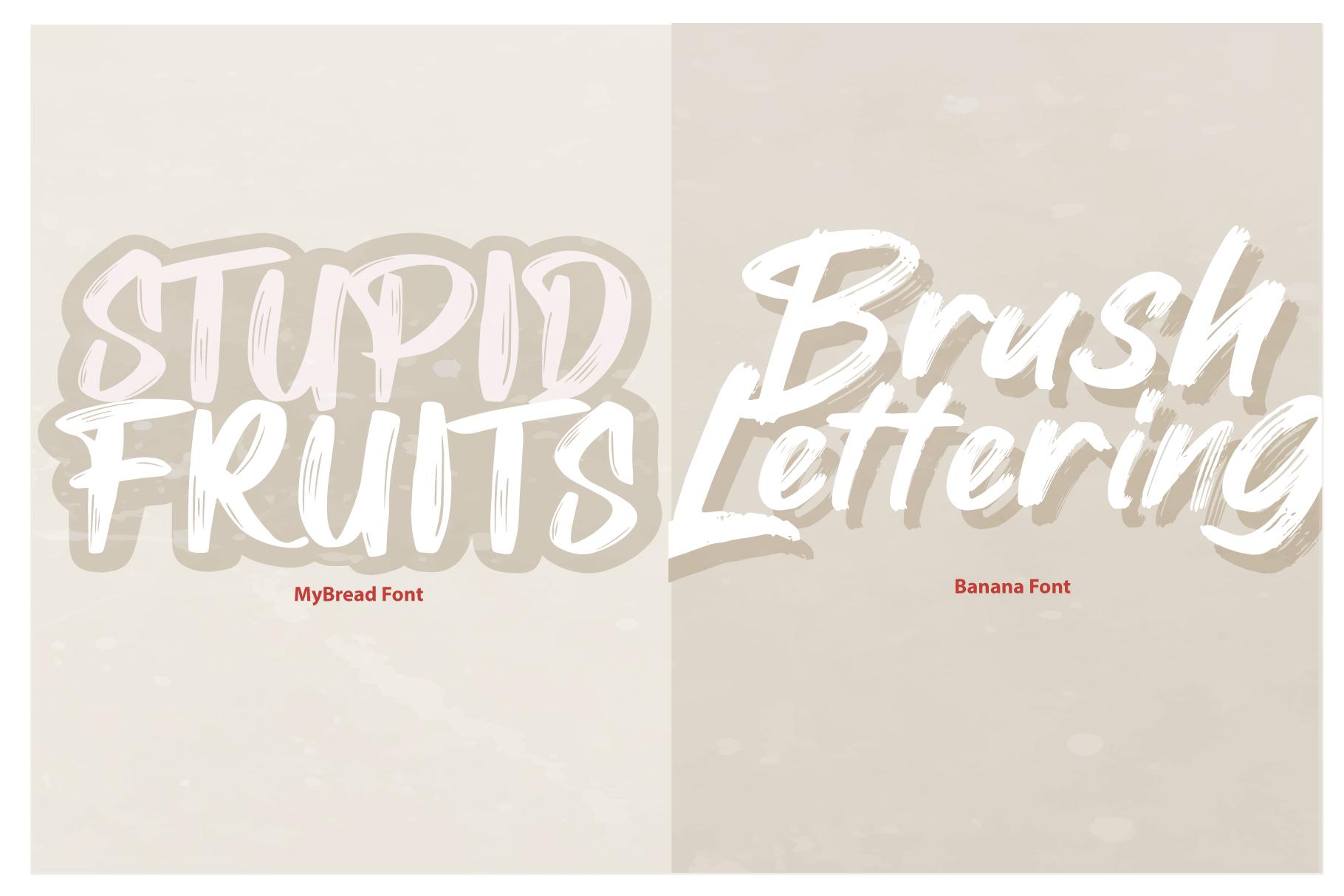 MyBread Banana Font Duo example image 4