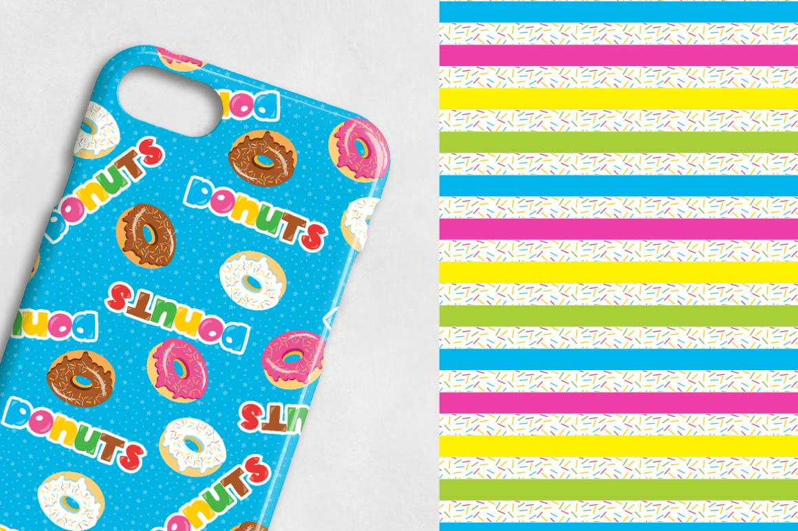 Donut, digital papers example image 5