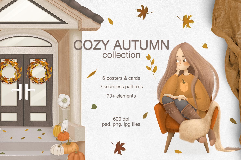 Cozy autumn clipart example image 1