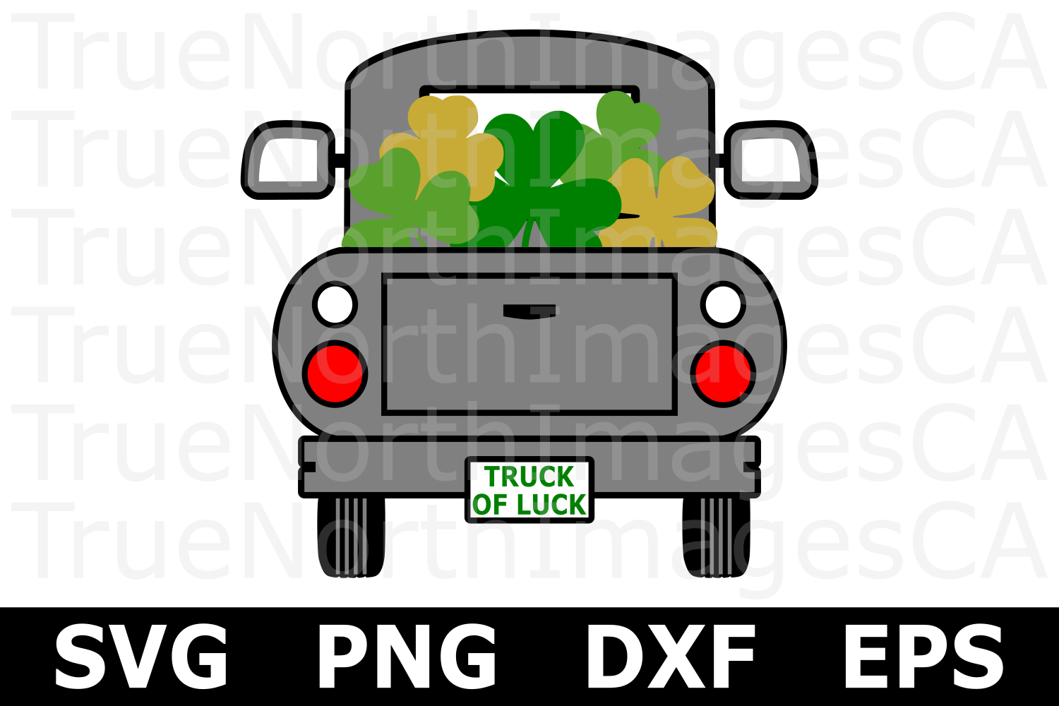 Truck of Luck - St Patricks Day SVG Cut File example image 1